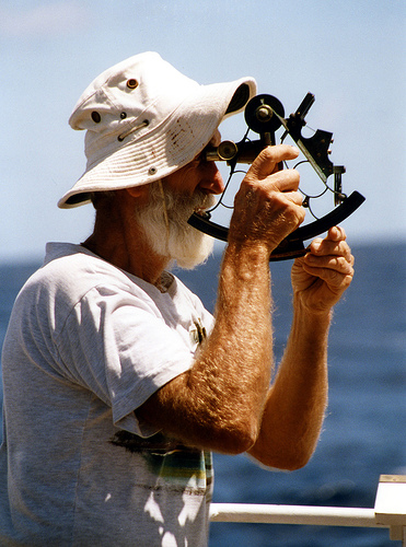 Taking a Sextant Reading